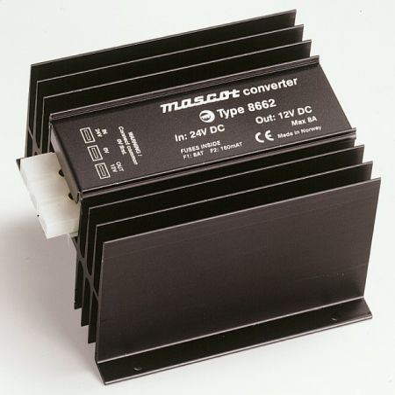30-48VDC-12VDC Converter 8A/96W DC/DC Mascot 8862
