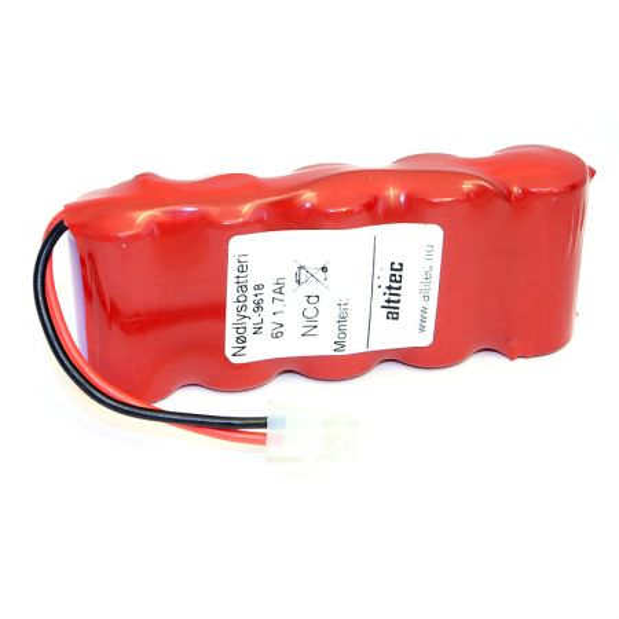 6V 1,8Ah Eltek nødlysbatteri