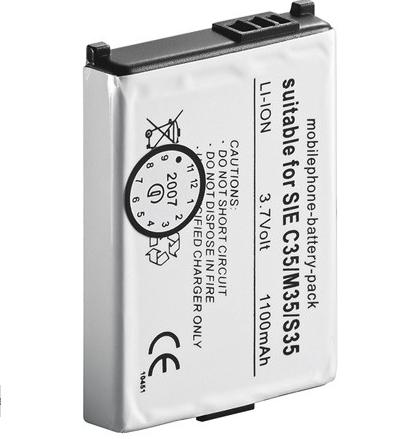 Batteri til Siemens 3.6 Volt 1000 mAh Li-ion