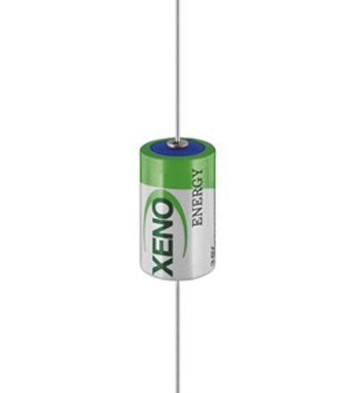 Xeno XL-050 Li-SOCl2 3,6V 1/2 AA 1200mAh ER 14250 med Aksiale pinner