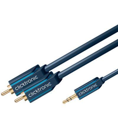 Clicktronic 20m 3,5mm Minijack til 2xRCA audiokabel